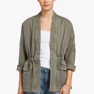 James Perse Military Cardigan Jacket in Leap